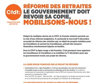 Réforme des retraites. Le gouvernement doit revoir sa copie, mobilisons-nous!