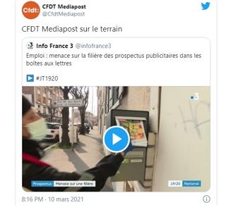 Projet Oui-Pub : La CFDT Mediapost sur leterrain